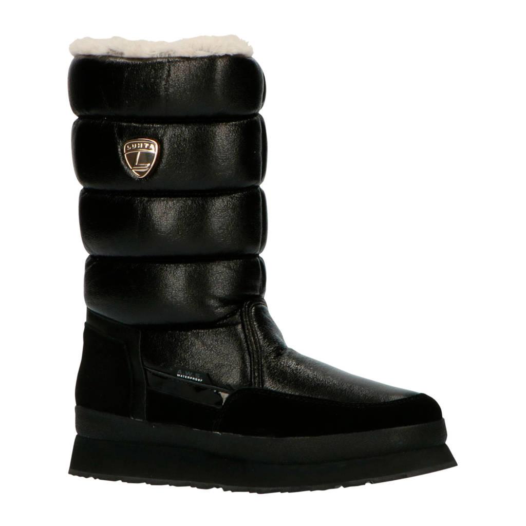 Luhta Valkea  snowboots glanzend zwart, Zwart