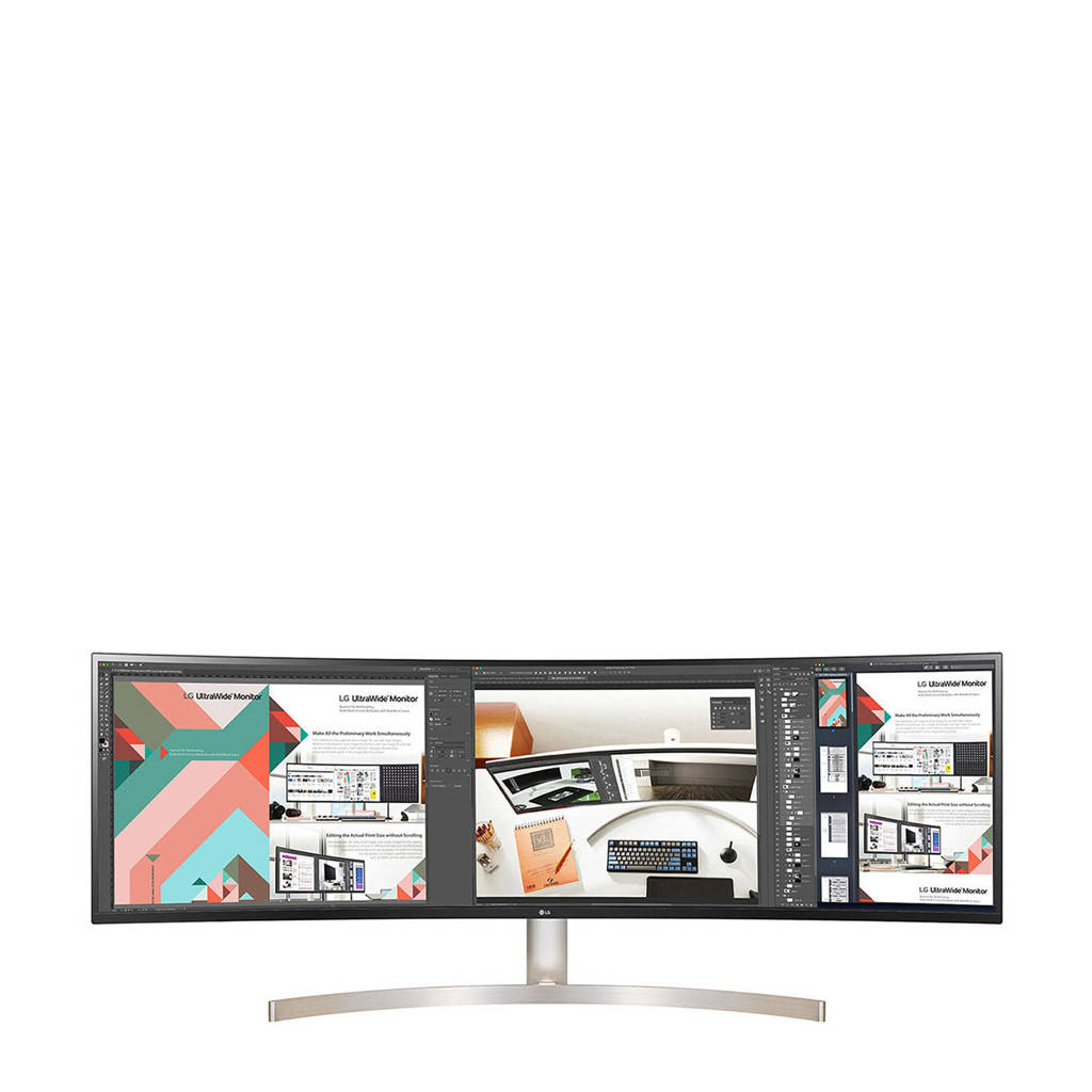 LG  UltraWide Dual QHD 49 inch curved monitor, Wit