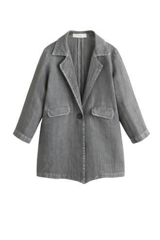 linnen blazer grijs
