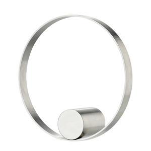 handdoekhaak Hooked On Rings (Ø10x3,5 cm) Zilver