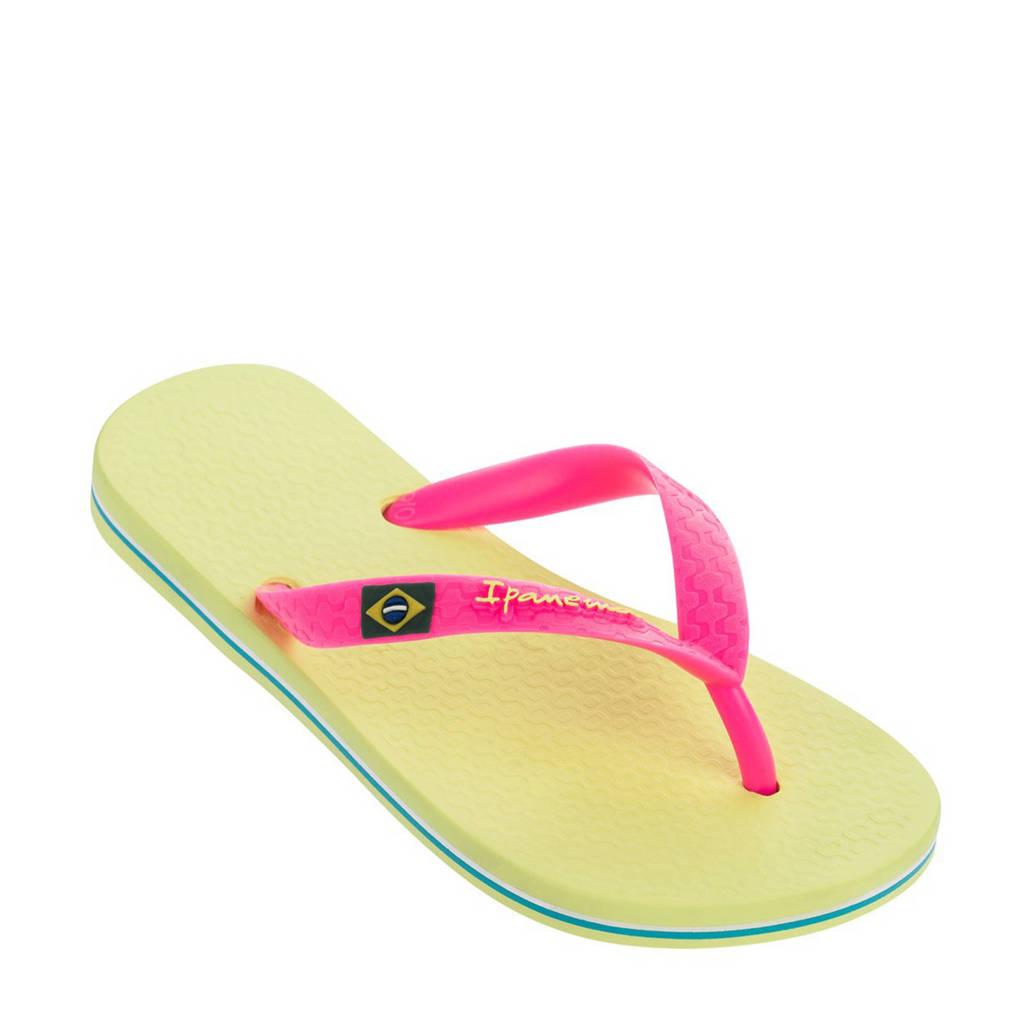 Ipanema   Classic Brasil teenslippers geel/roze, Geel/roze