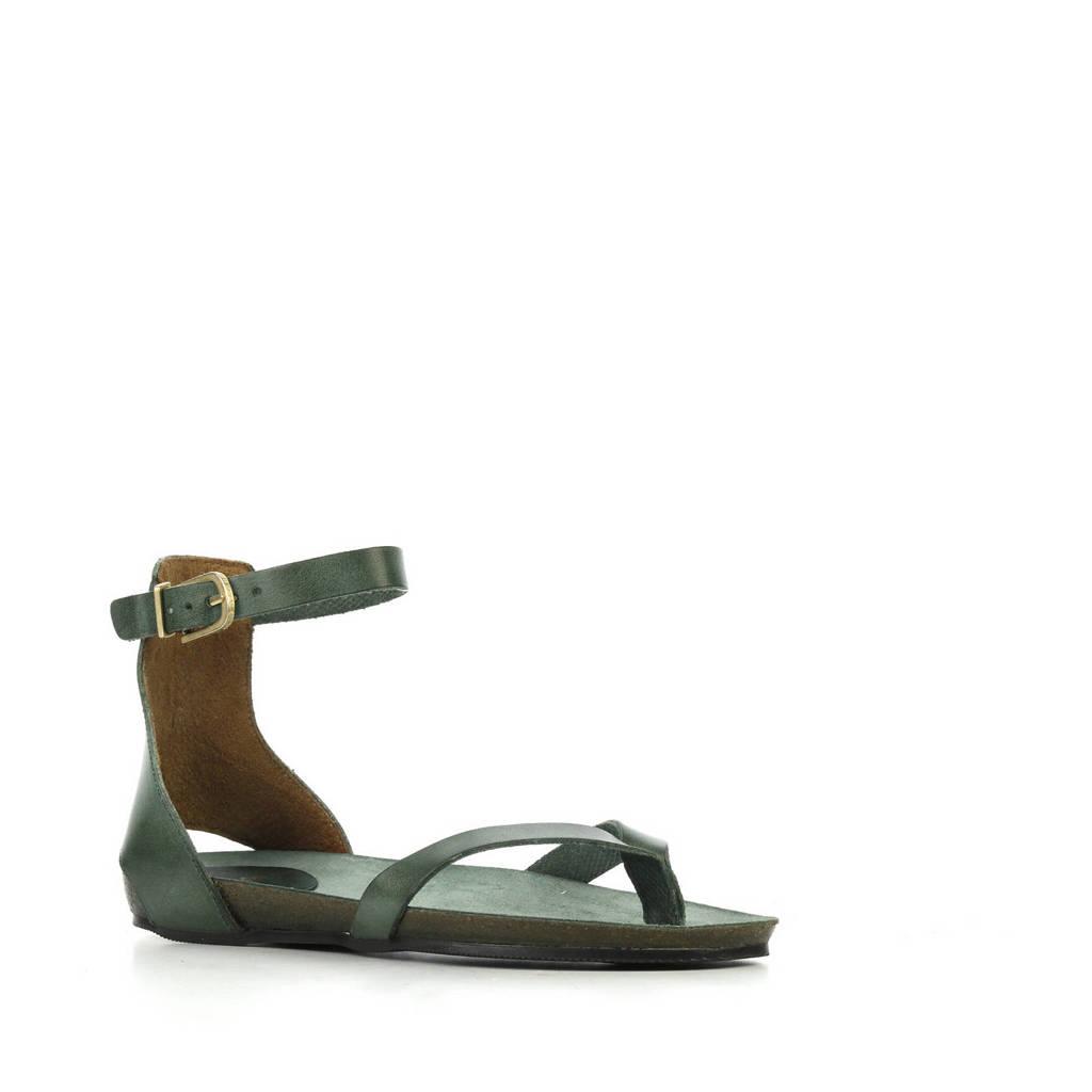 Fred de la Bretoniere 170010060 leren sandalen groen, Groen
