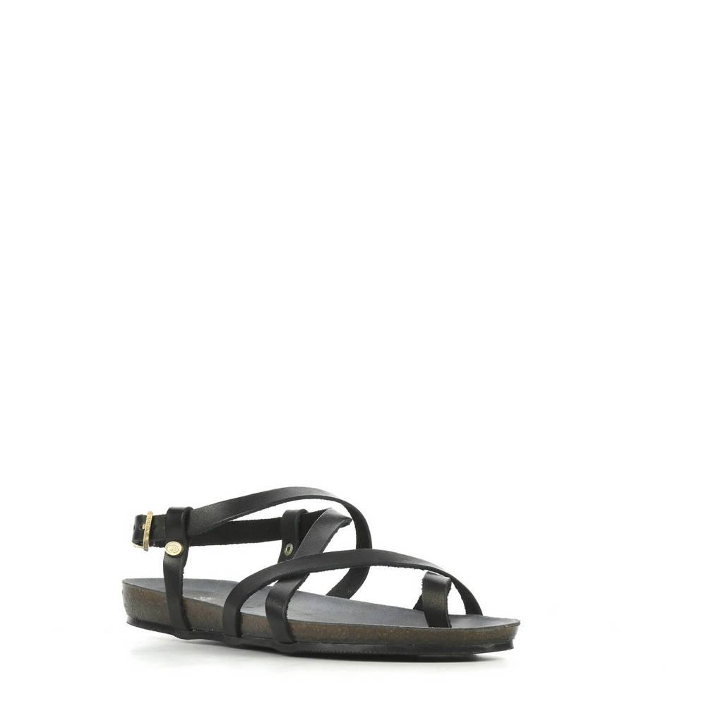 Fred de la Bretoniere 170010061 leren sandalen zwart, Zwart