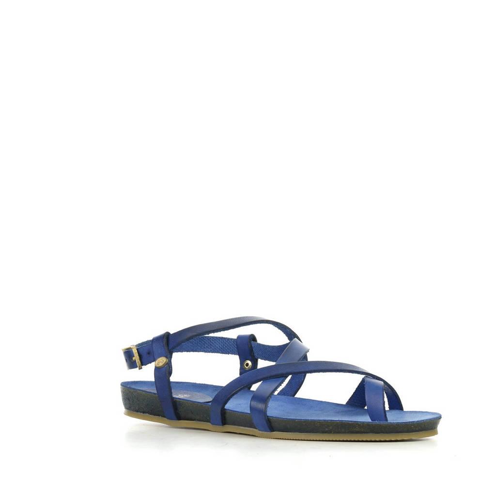 Fred de la Bretoniere 170010061 leren sandalen blauw, Blauw
