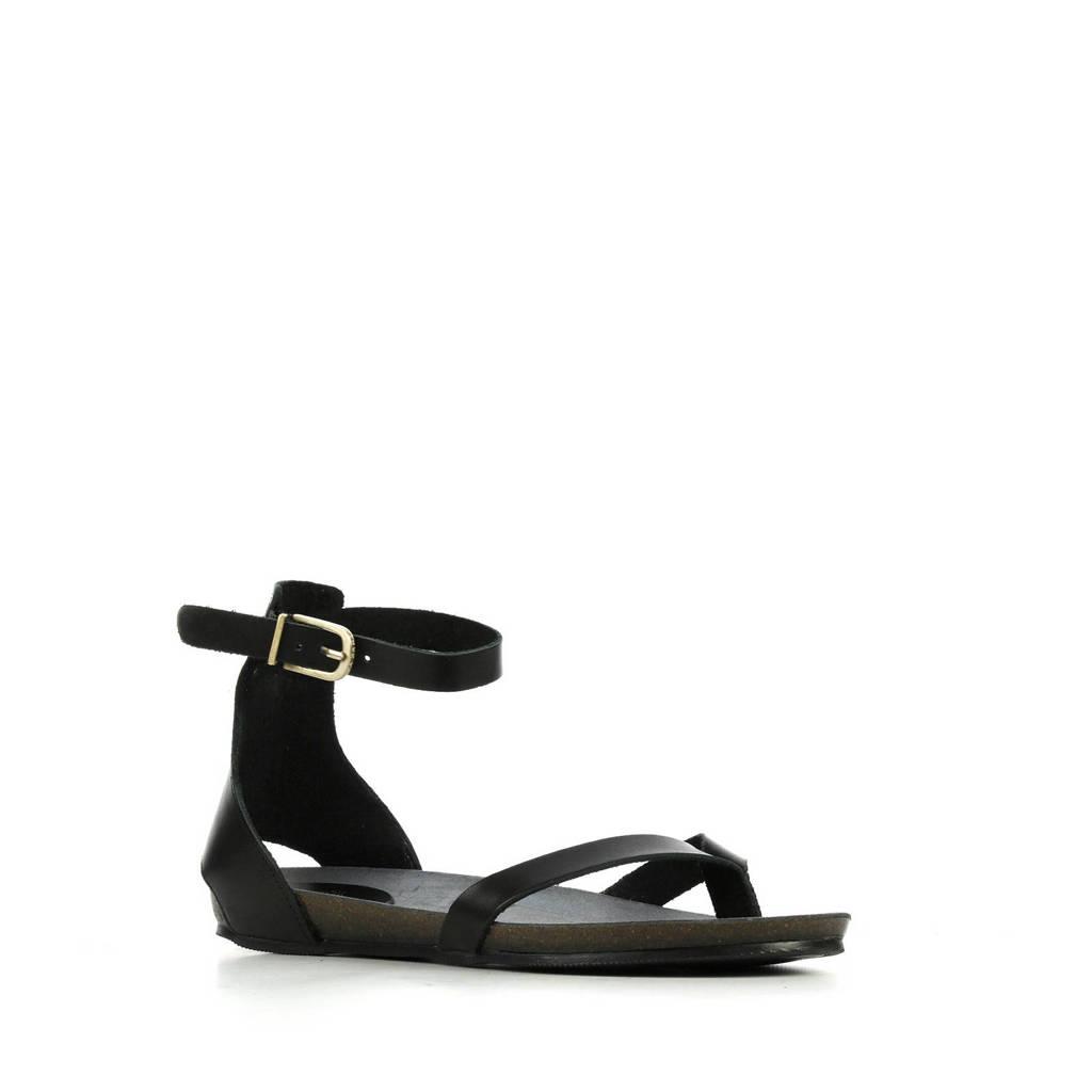 Fred de la Bretoniere 170010060 leren sandalen zwart, Zwart