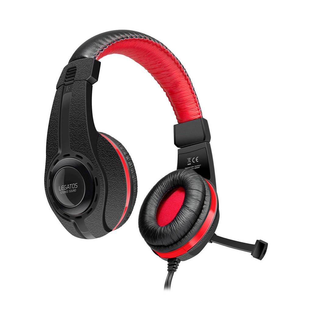 Speedlink  Legatos gaming headset voor de PS4, Zwart, Rood