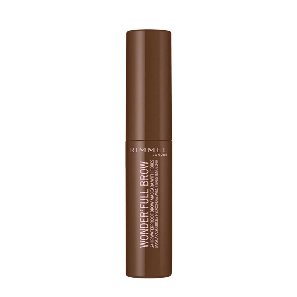 Rimmel London Wonder'full 24 Hour Brow Mascara - 002 Medium brown, 002 Medium Brown