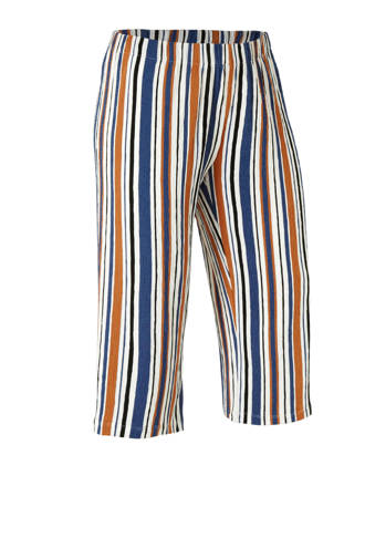 gestreepte culotte wit/blauw/oranje/zwart