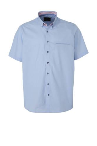 XL Canda overhemd met all over print lichtblauw