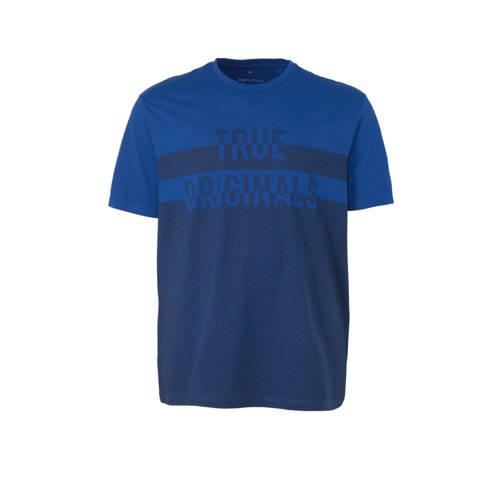 C&A XL Angelo Litrico katoenen pyjamatop met printopdruk blauw