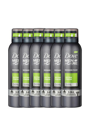 Extra Fresh 3-in-1 doucheschuim - 6x200 ml