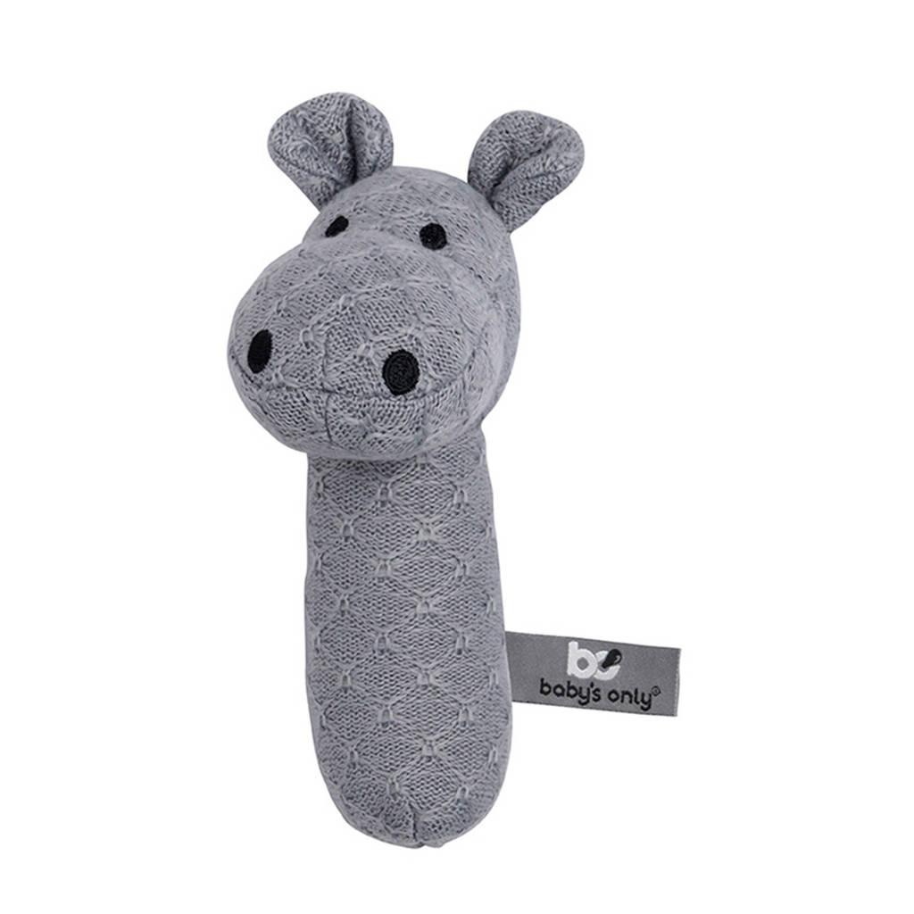 Baby's Only rammelaar nijlpaard grijs, Grijs