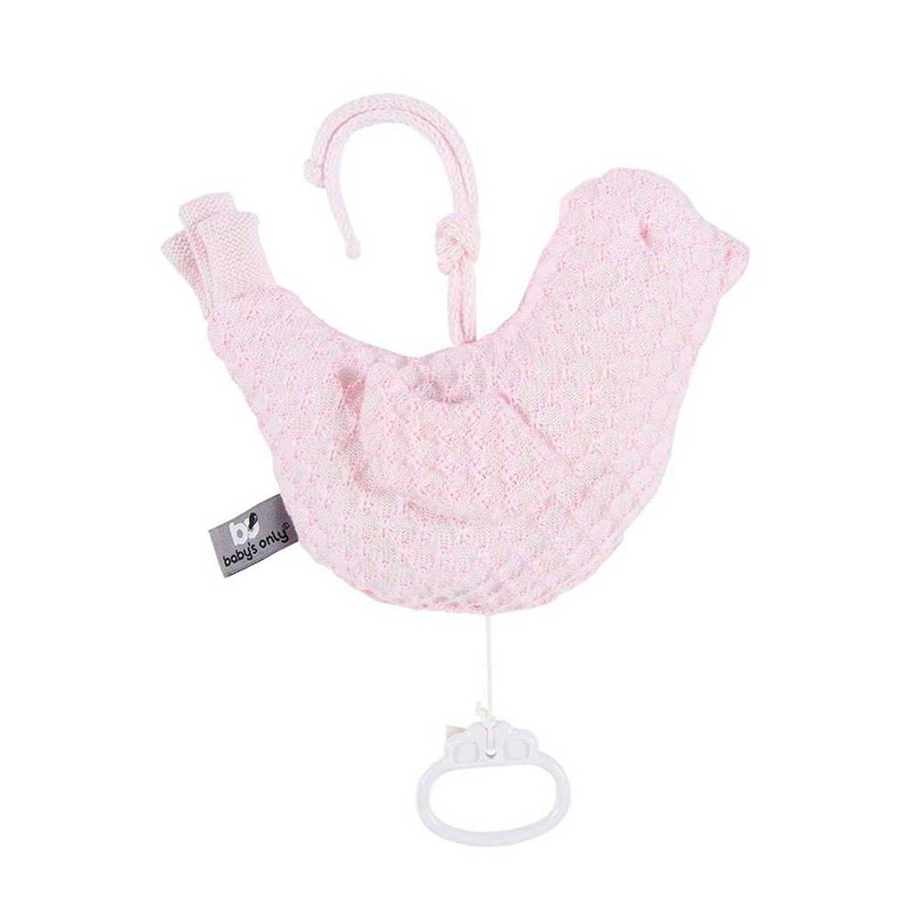 Baby's Only Sun muziekdoos vogel baby roze, Roze