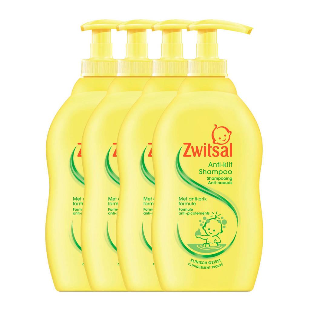Zwitsal anti-klit shampoo - 4x400 ml - baby