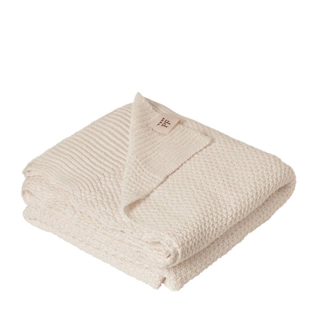 Petit Filippe gebreide baby deken ivoor 130x80 cm, Ivoor