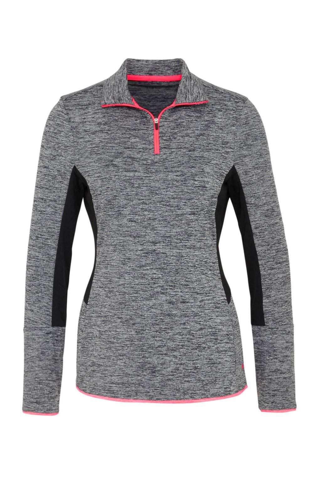 ziet er goed uit schoenen te koop premium selectie best sport T-shirt lange mouw/korte rits grijs melange