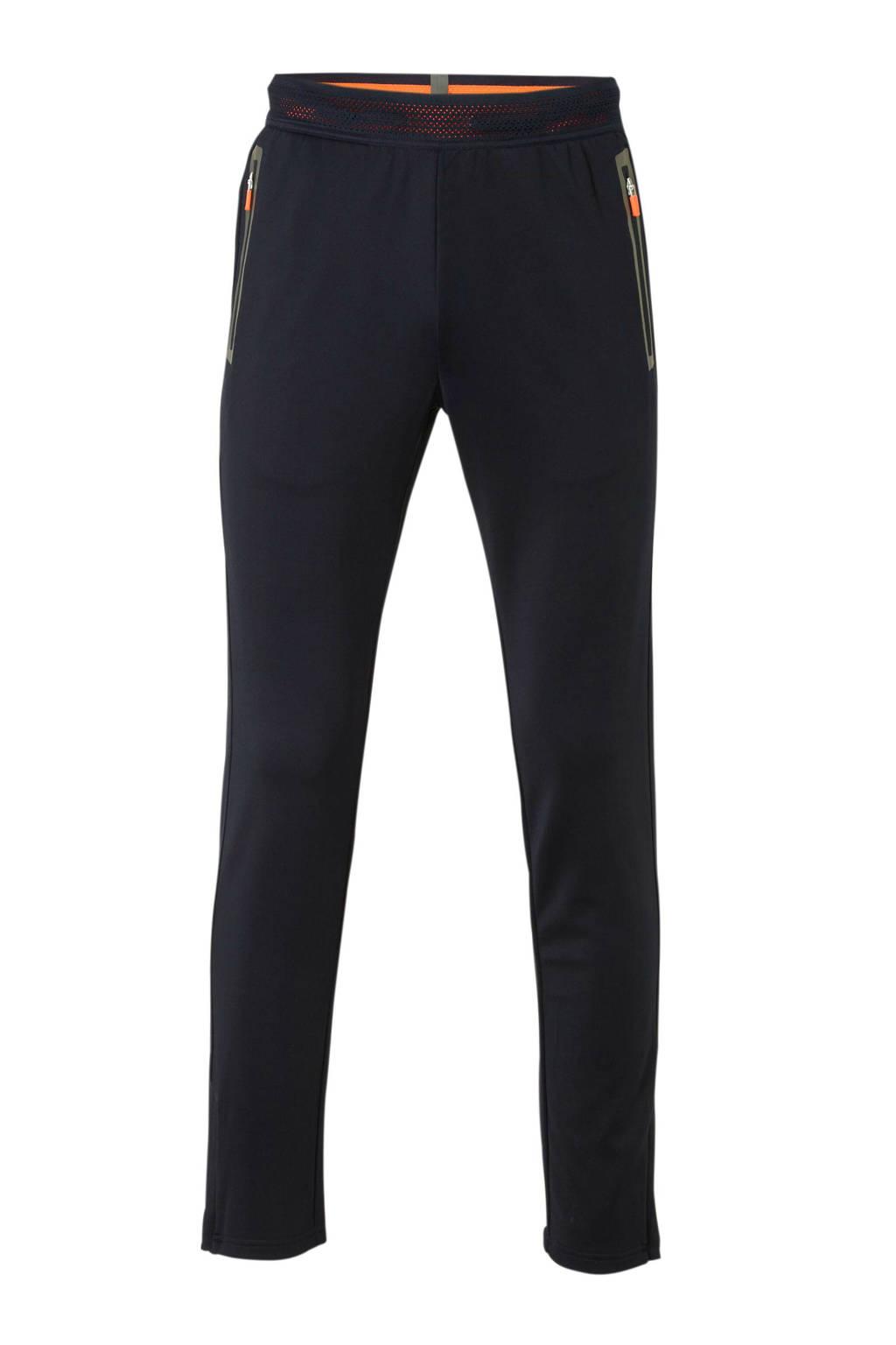 Sjeng Sports   sportbroek zwart/grijs, Zwart/grijs