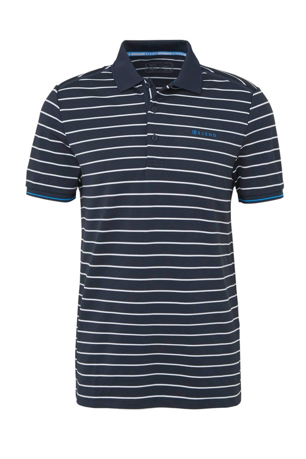Sjeng Sports   polo donkerblauw/wit, Donkerblauw/wit