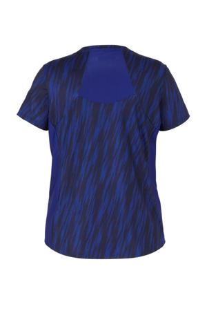 Plus T-shirt blauw/zwart