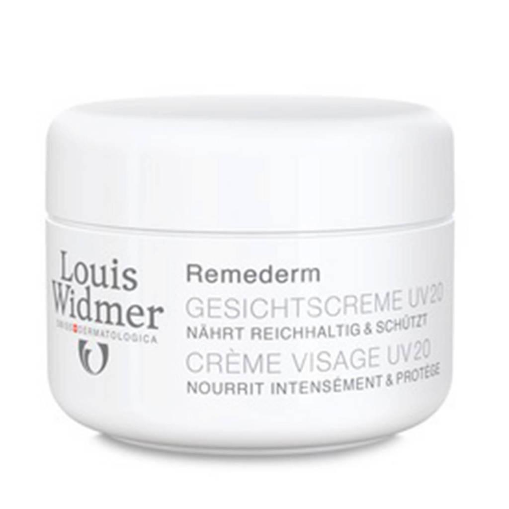 Louis Widmer Ongeparfumeerde Remederm UV20 gezichtscrème - 50 ml