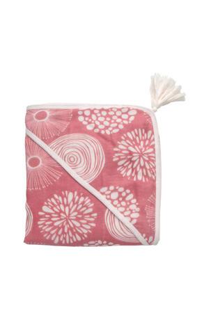 hydrofiel badcape 100x100 cm Sparkle roze