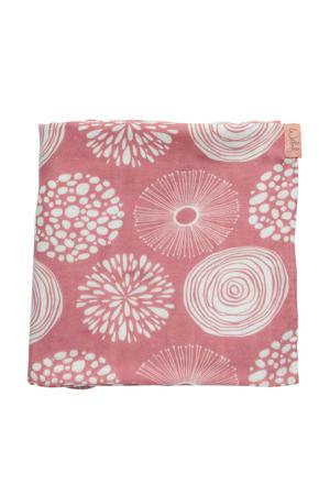 hydrofiele doek 120x120 cm Sparkle roze