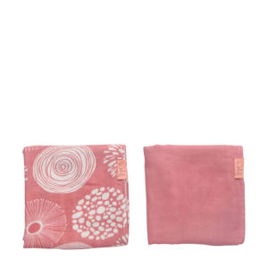 hydrofiele doek 80x80 cm Sparkle roze - set van 2