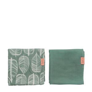 hydrofiele doek 80x80 cm Beleaf sage green - set van 2