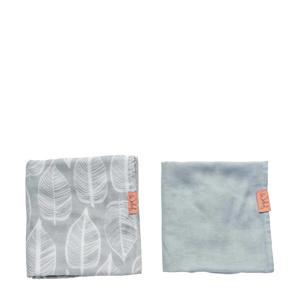 hydrofiele doek 80x80 cm Beleaf warm grey - set van 2