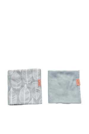 hydrofiele doek 80x80 cm Beleaf warm grey - set van 2