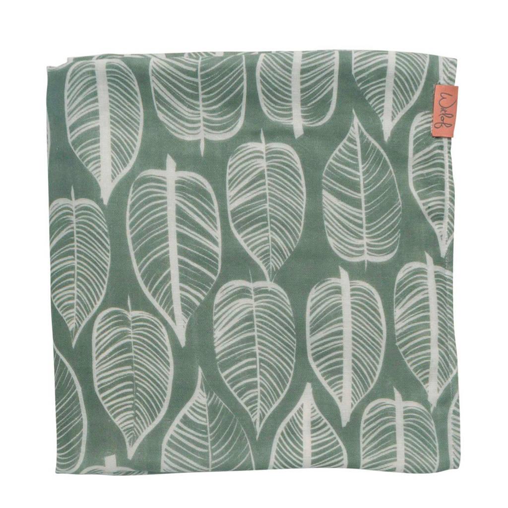 Witlof for kids hydrofiele doek 120x120 cm Beleaf sage green, Groen