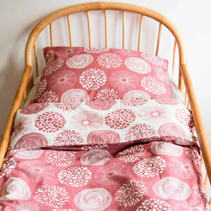 katoenen junior dekbedovertrek 120x150 cm Sparkle roze