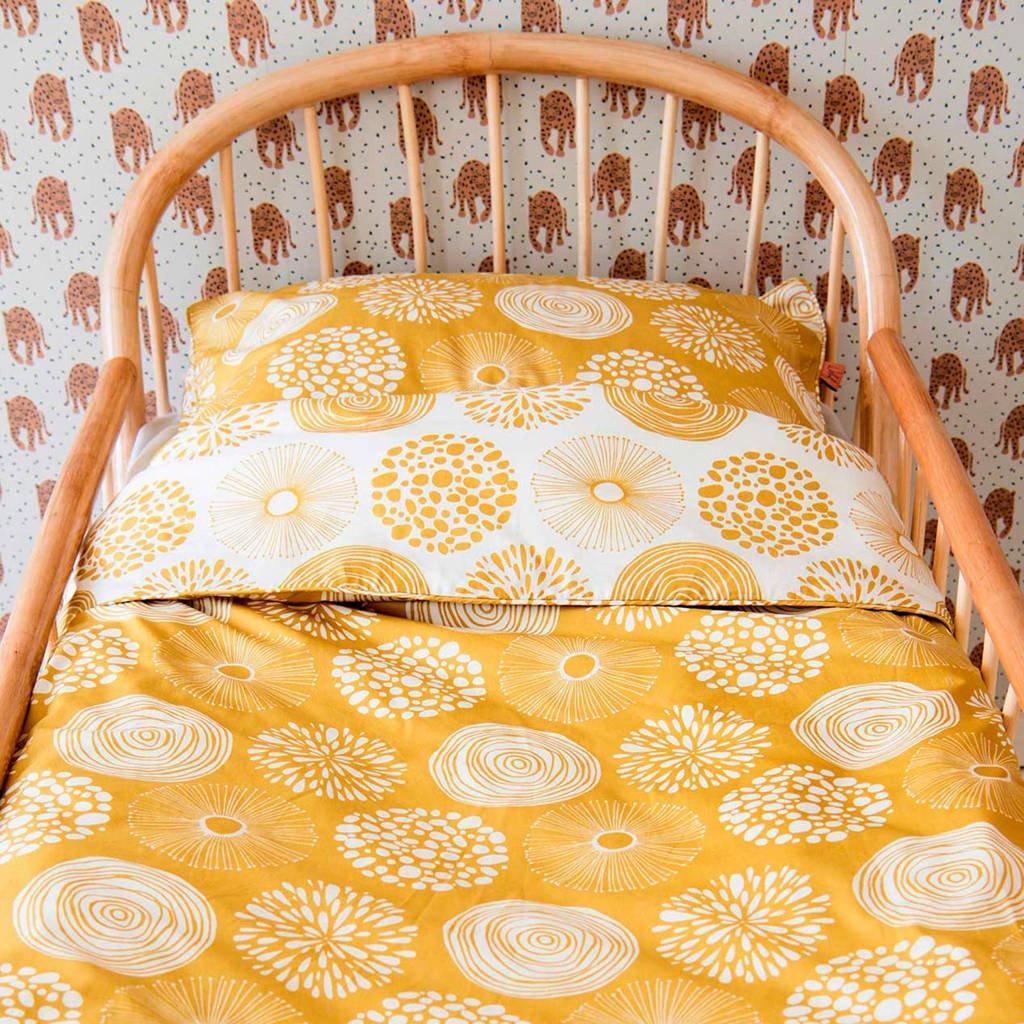 Witlof for kids katoenen junior dekbedovertrek 120x150 cm Sparkle sweet honey, Oker