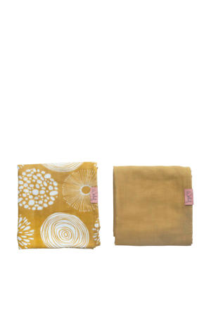 hydrofiele doek 80x80 cm Sparkle sweet honey - set van 2