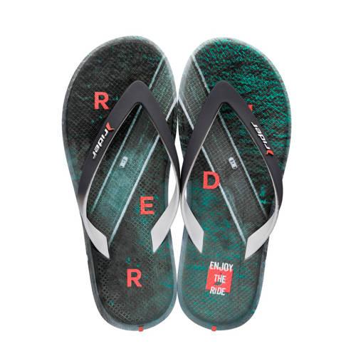 Rider R1 Energy teenslippers grijs/groen