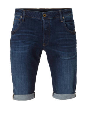 slim fit jeans short donkerblauw