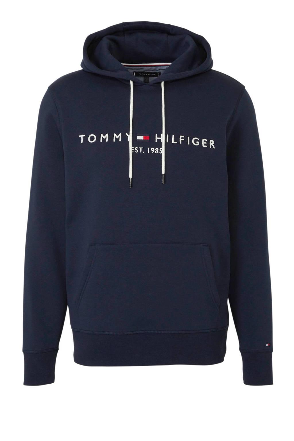 Tommy Hilfiger hoodie met logo blauw, Blauw
