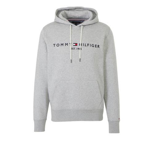 Tommy Hilfiger hoodie met logo grijs
