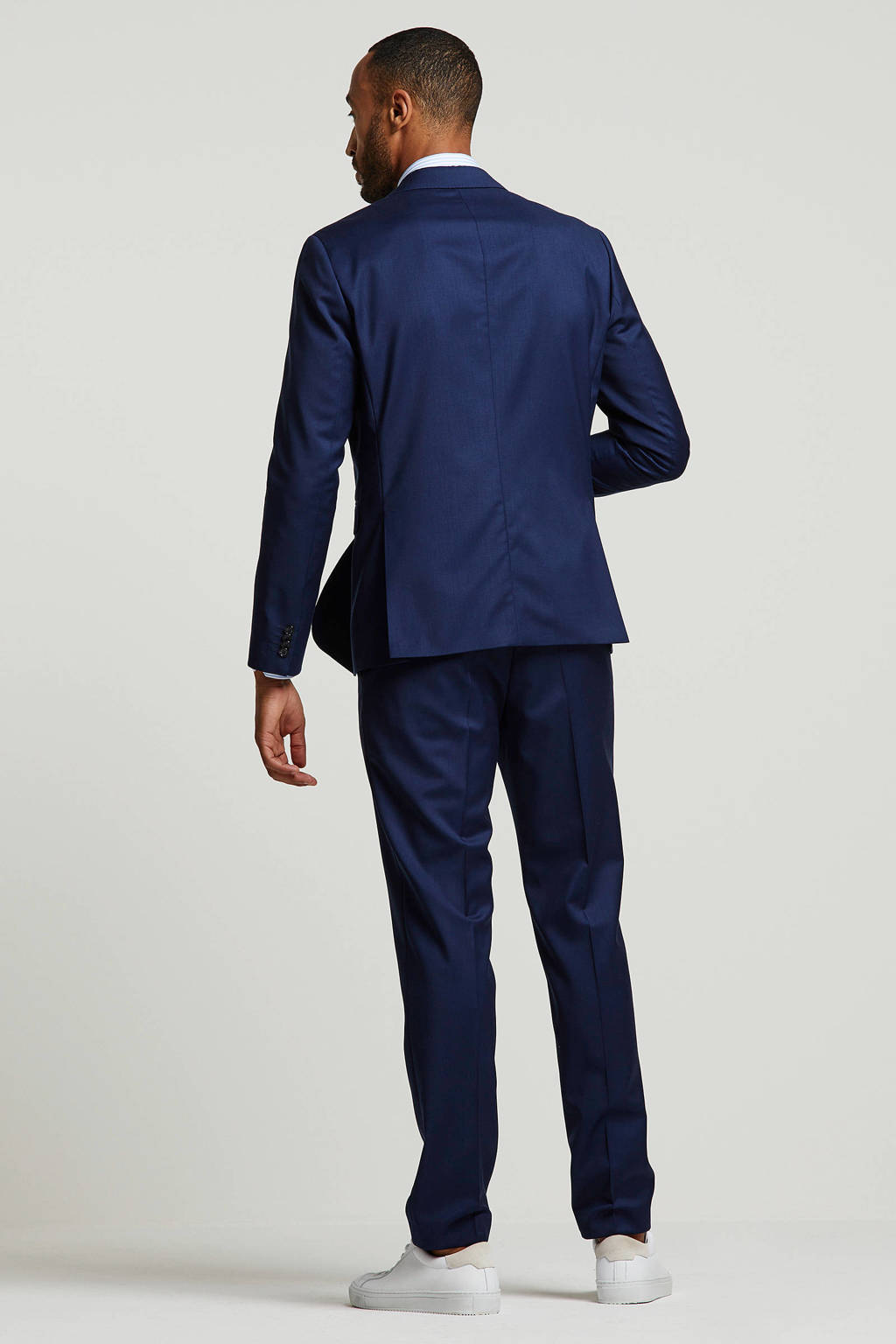 Tommy Hilfiger Tailored wollen slim fit colbert donkerblauw, Donkerblauw