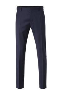 Tommy Hilfiger Tailored wollen slim fit pantalon donkerblauw, Donkerblauw