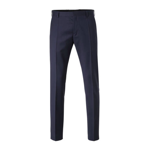 Tommy Hilfiger Tailored wollen slim fit pantalon donkerblauw