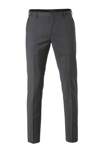 wollen slim fit pantalon