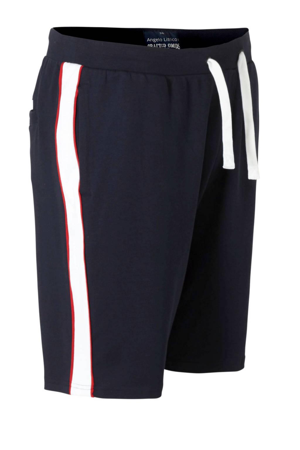 C&A XL Angelo Litrico sweatshort donkerblauw, Donkerblauw/wit/rood
