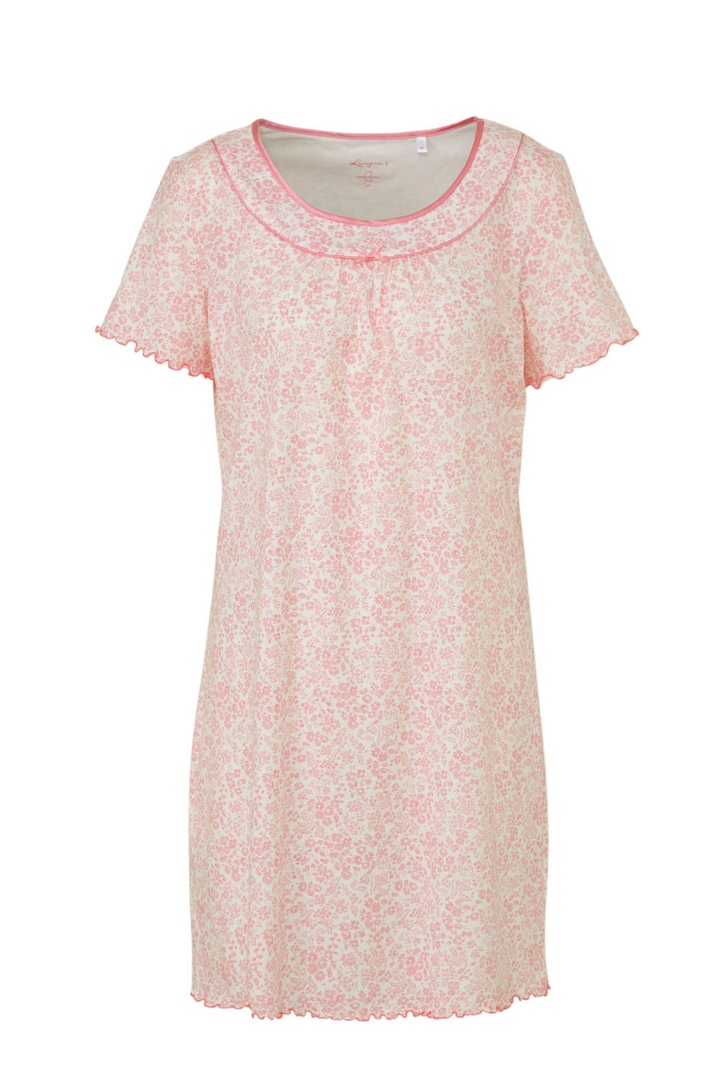 C&A nachthemd met all over print roze, Roze/ecru