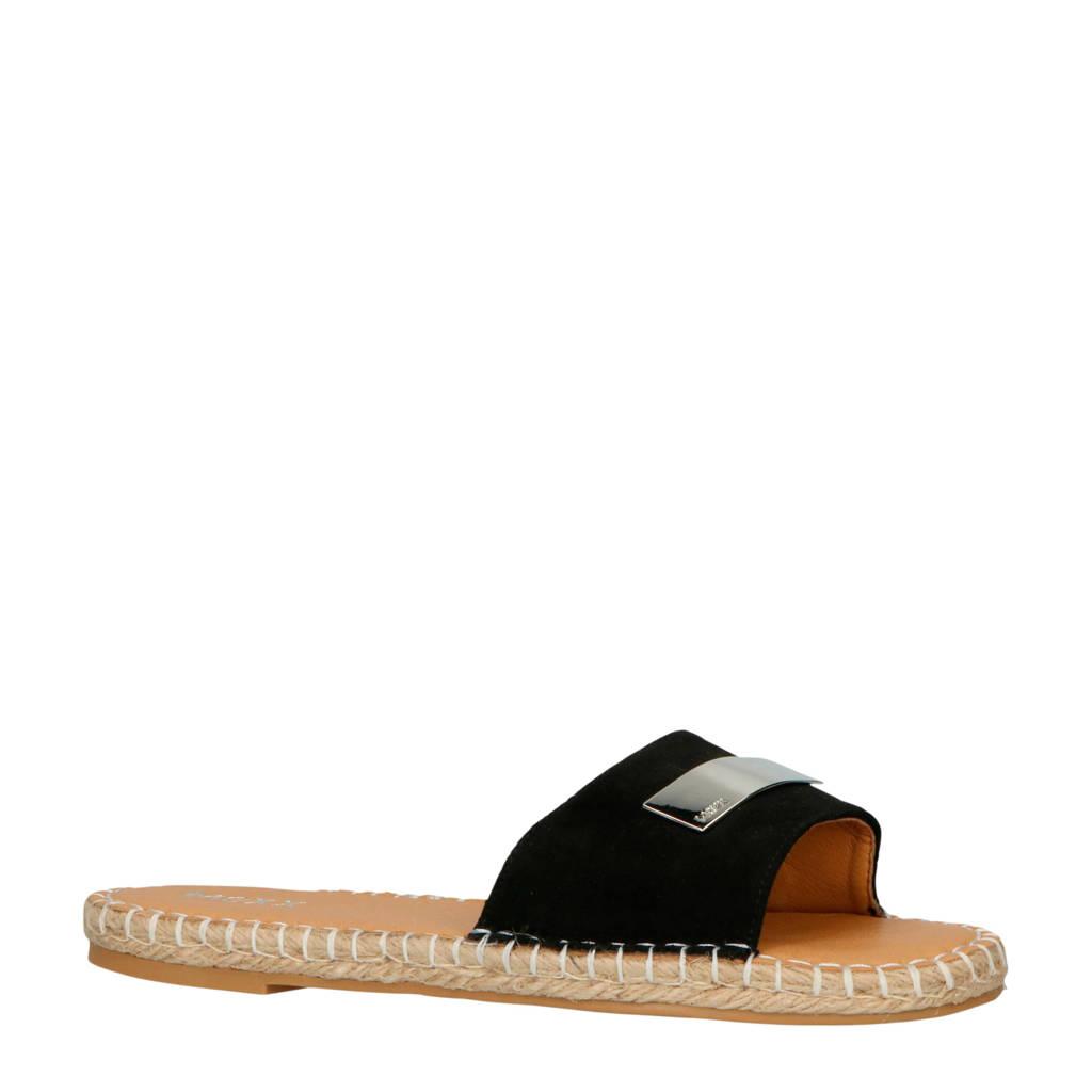 Mexx slippers Camila zwart, Zwart
