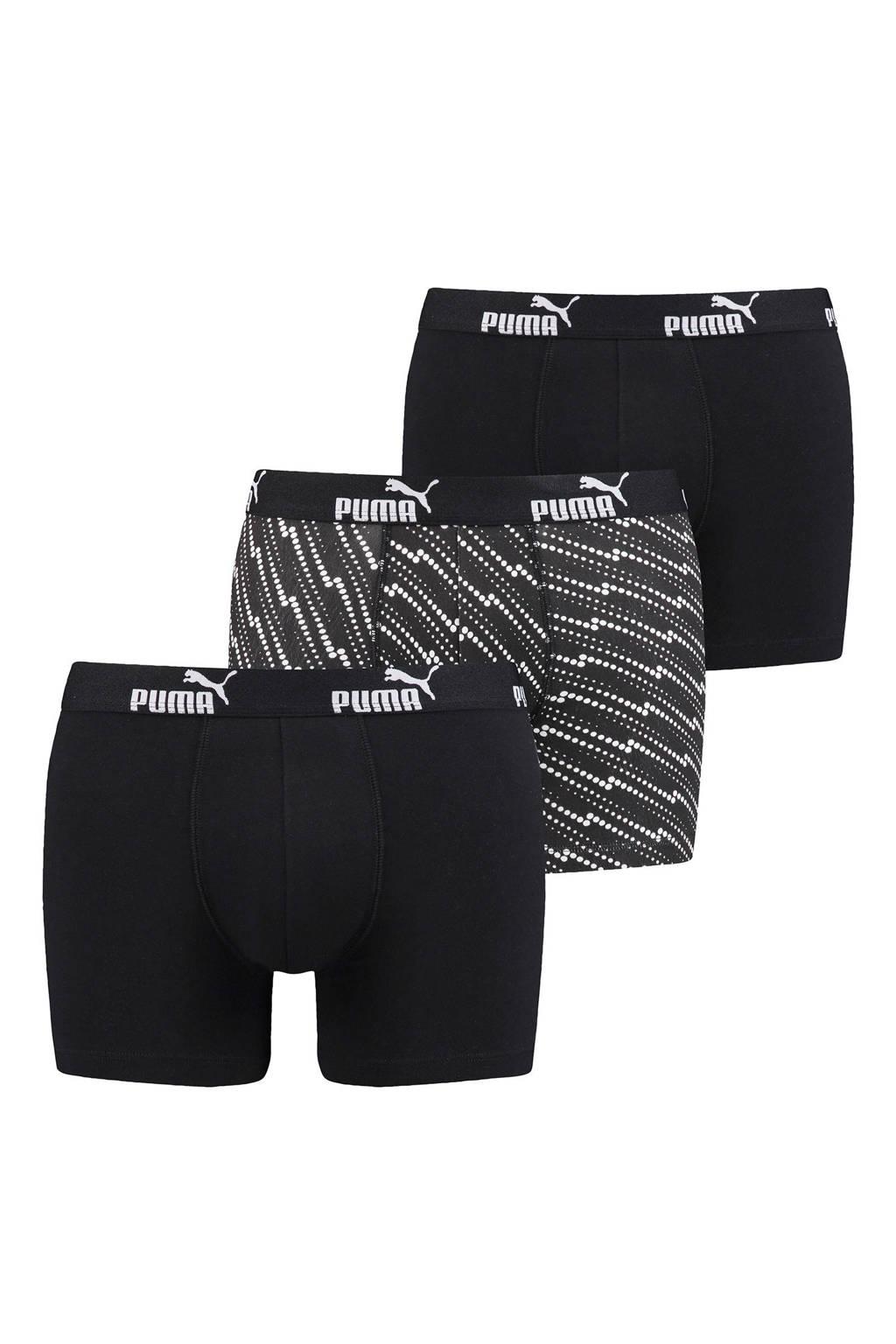 Puma boxershort (set van 3), Zwart