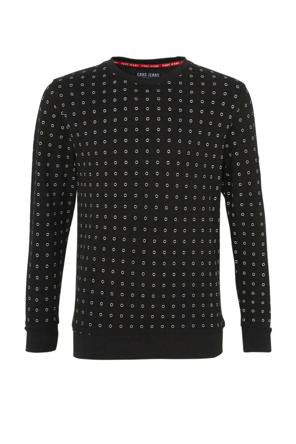 Cars sweater Brenos met ruitdessin zwart, Zwart