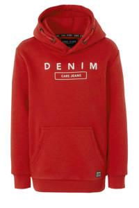 Cars hoodie Bryant met tekst rood, Rood
