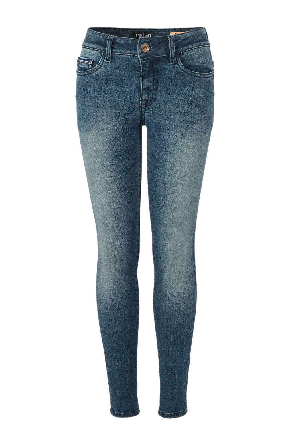 Cars super skinny jeans Diego blauw/groen, Blauw/groen