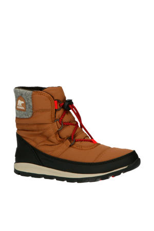 Youth Whitney Short Lace  snowboot camel/grijs kids